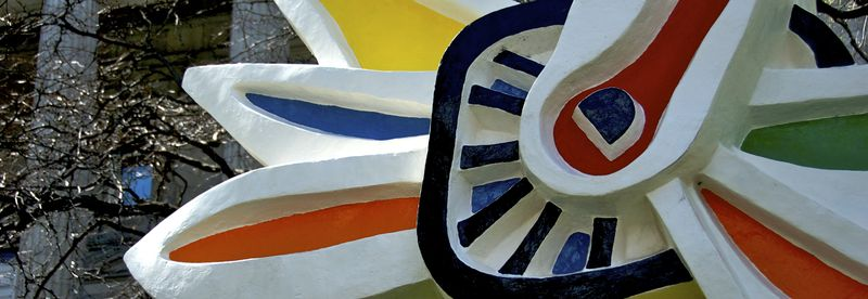 F. Leger's polychrome sunflower in Old Mtl